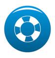 lifebuoy icon blue vector image