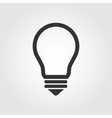 Light bulb icon flat design vector image vector image