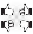 like and dislike sign symbol icon vector image