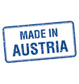 made in Austria blue square isolated stamp vector image vector image
