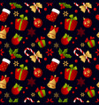 merry christmas seamless pattern decoration vector image vector image