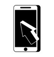mobile phone payment online arrow cursor vector image vector image