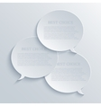 modern bubble speech light background vector image