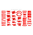 modern new gradient red ribbons isolated on white vector image