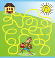 monkey and school maze vector image vector image