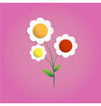 multicolors flower papercut vector image