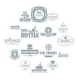 nautical sea logo icons set simple style vector image vector image