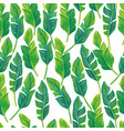 palm leaves seamless pattern white background vector image vector image