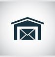 post office icon simple concept symbol design vector image vector image