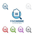 real estate logo home house logo find home logo vector image