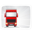 red truck moving on road vector image
