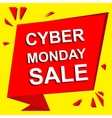 Sale poster with CYBER MONDAY SALE text vector image