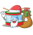 santa toy drum character cartoon vector image vector image