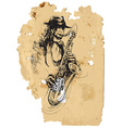 saxophone player vector image vector image