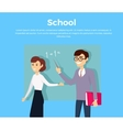 School Education Concept Banner vector image