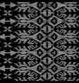 seamless ikat pattern black and grey vector image vector image
