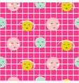 seamless pattern with cute planets vector image