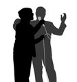 senior singing duet vector image vector image