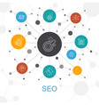 seo trendy web concept with icons contains such vector image vector image