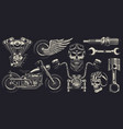 Set custom motorcycle emblems