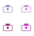 Set of paper stickers on white background medical vector image vector image