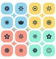 set of simple flower icons vector image vector image