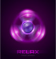 shine motion spinner for relax background light vector image