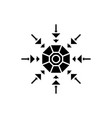 snowflake decoration black icon sign on vector image