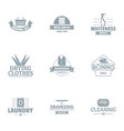 special tool logo set simple style vector image vector image