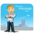 Successful good looking businessman vector image vector image