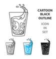 transparent glass with water water to take my vector image vector image