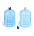 Two big bottles of water for delivery Bottles of vector image