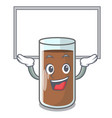 up board pouring chocolate milk from bottle vector image vector image