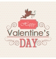 Valentines day emblem vector image vector image
