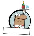 Waiter cartoon vector image vector image