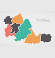 west midlands england map with states and modern vector image vector image