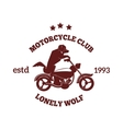 Motorcycle label badge Black icon and moto vector image