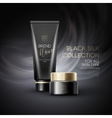 Design cosmetics product advertising on black vector image