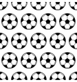 Soccer ball black and white seamless pattern vector image