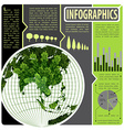 An infographics of the world vector image vector image