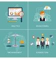 Banners Analytics brainstorming time is money vector image vector image