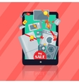 Big Sale in Electronics Store Flat Concept vector image vector image