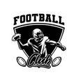 black and white sport badge american football vector image