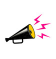 black megaphone on white background vector image vector image