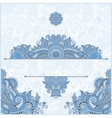 blue colour invitation card with neat ethnic vector image