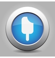 blue metal button with stick ice cream vector image vector image