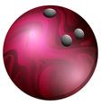 BM bowling ball 07 vector image vector image