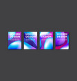 brochure banner set collection flyer abstract vector image vector image
