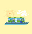 bus refugee people concept banner flat style vector image