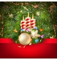 Candles and Christmas ornaments EPS 10 vector image vector image